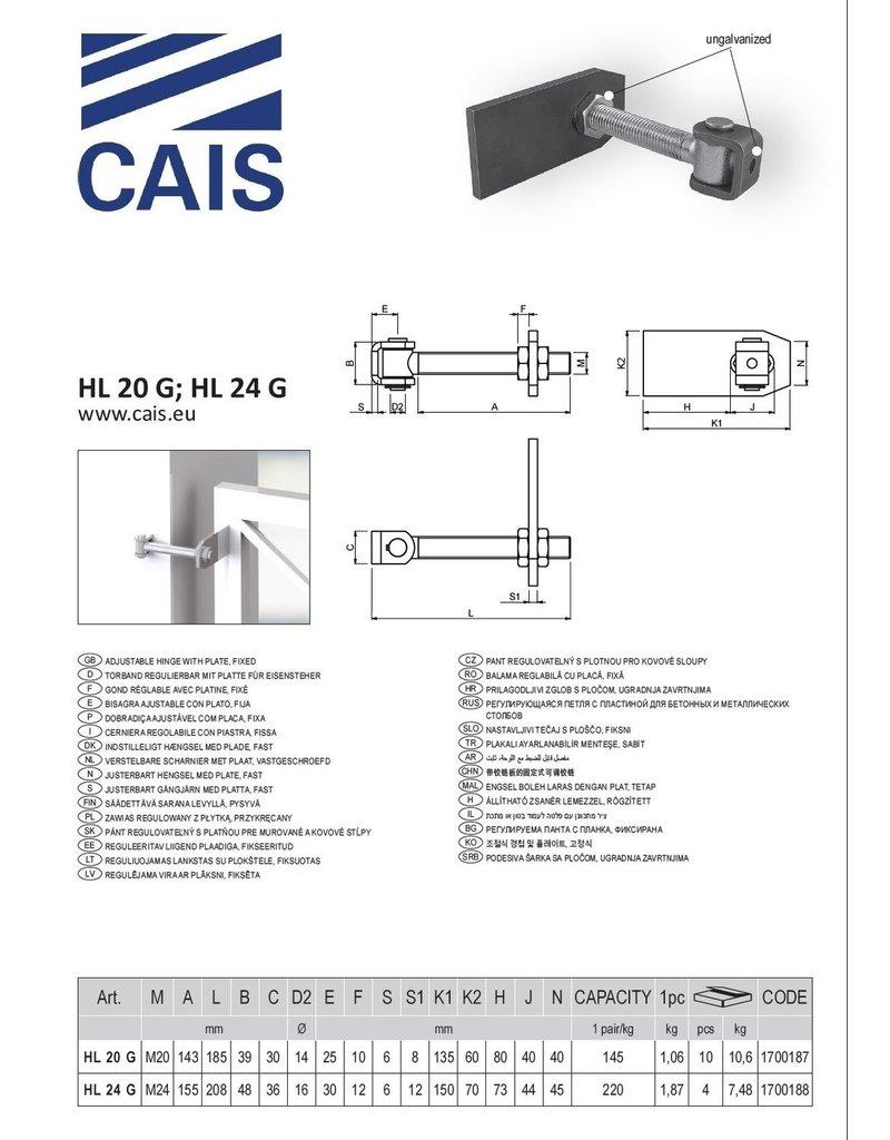 CAIS Gond réglable avec platine, fixe