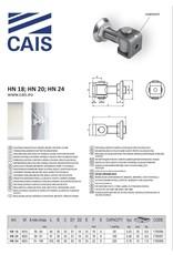 CAIS Verstelbaar scharnier met sluitring - gelast - voor stalen kolom