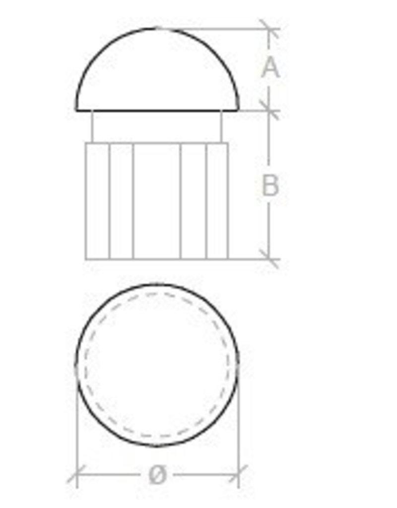 Triebenbacher bouchon rond avec pvc V2A 42.4x2mm