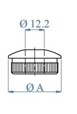 I AM Design Bouchon oval - Ø12.2mm