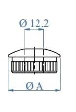 Triebenbacher eindkap ovaal V2A - binnendia 12.2mm