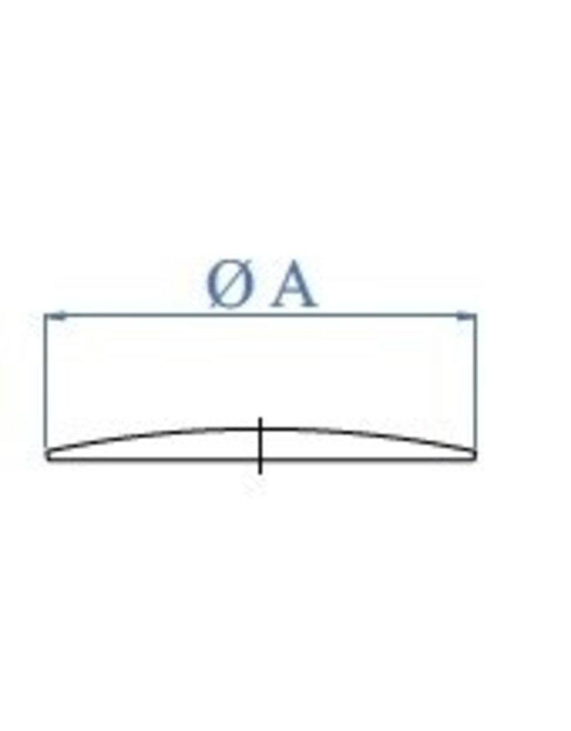 I AM Design Lasdop ovaal geslepen V2A - 1.5-2mm - om te lassen