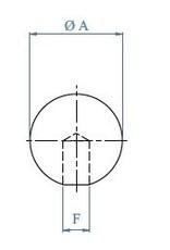 Triebenbacher bouchon massif V2A - dia 12.2mm