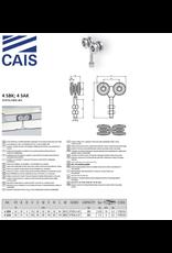 CAIS Chariot quatre roues à roulement ferme pour portes coulissantes et volets