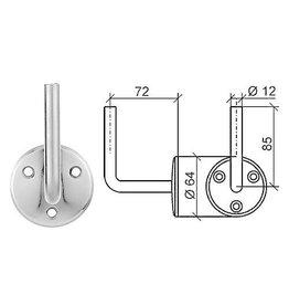 Triebenbacher support main courante acier - 64x4mm