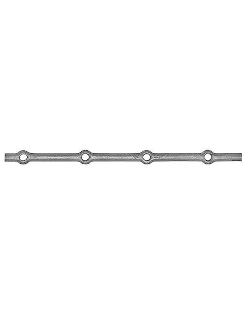 Triebenbacher staaf met ronde gaten - 2000mm