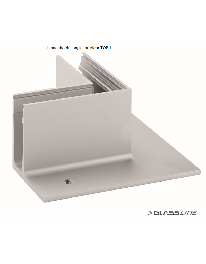 Glassline Angle 90° core garde-corps - TOP 1