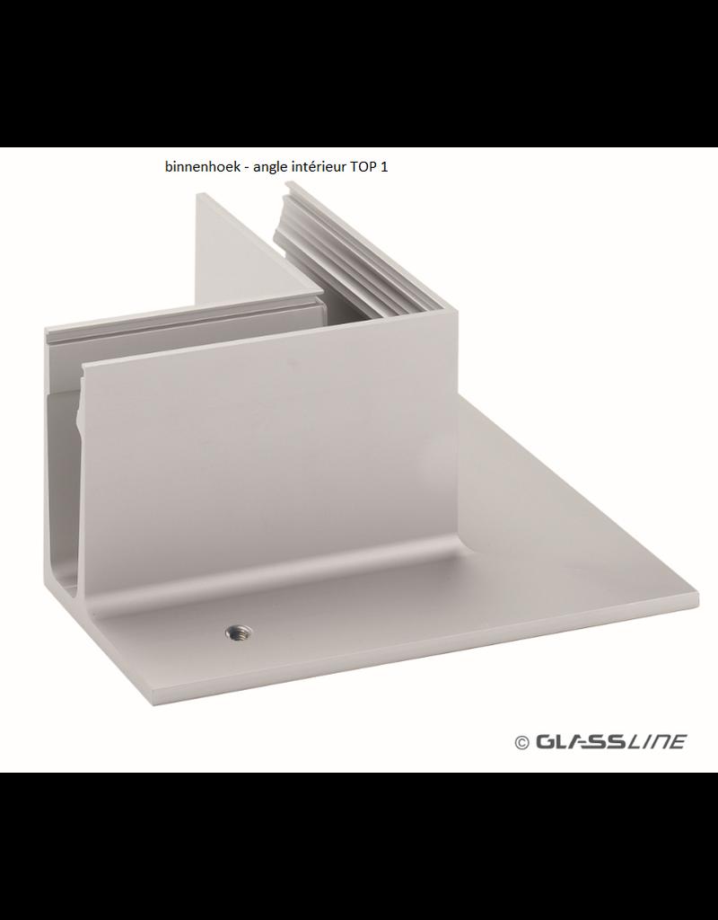 Glassline Glasbalustrade core hoek 90° - TOP 1