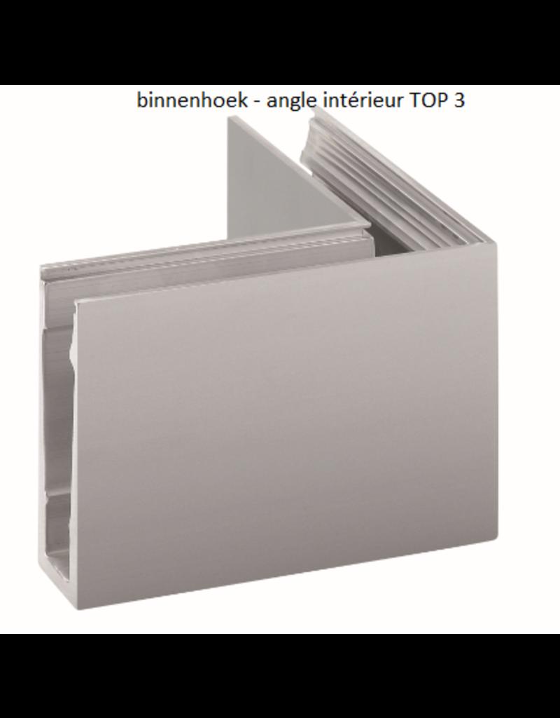 Glassline Glasbalustrade core hoek 90° - TOP 3