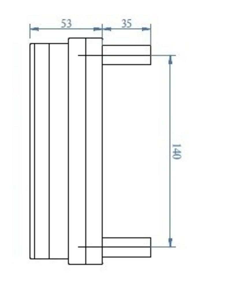 Triebenbacher deur aanslag alu 140x115mm