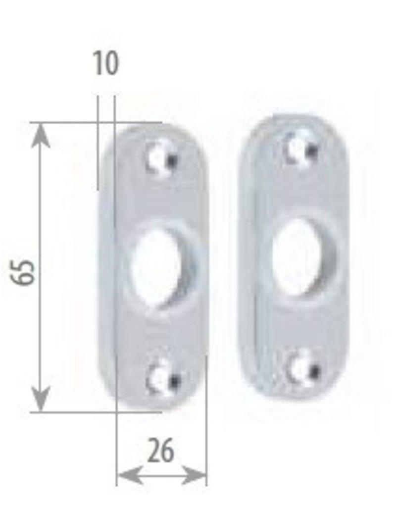 Triebenbacher deur rozetten paar alu - 26x65mm