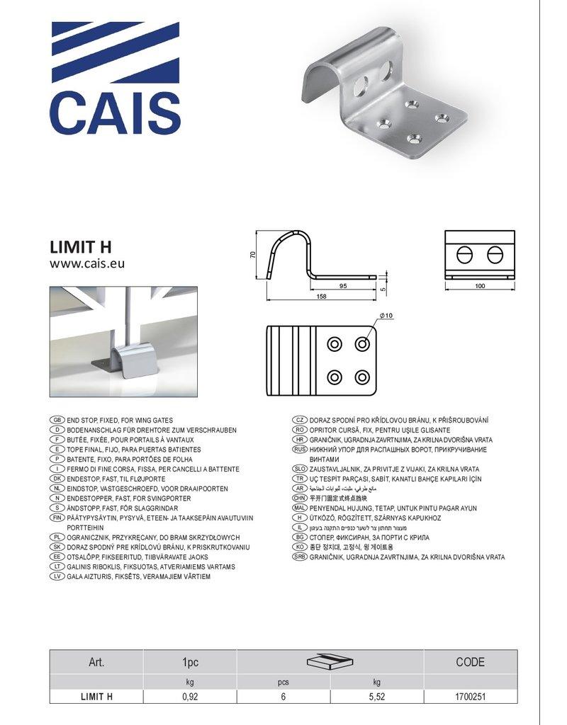CAIS Butée fixée, pour portails à vantaux
