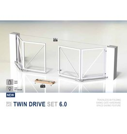 CAIS Twin drive set - vouwbare poort met alle accessoires voor het ophangen van de poort