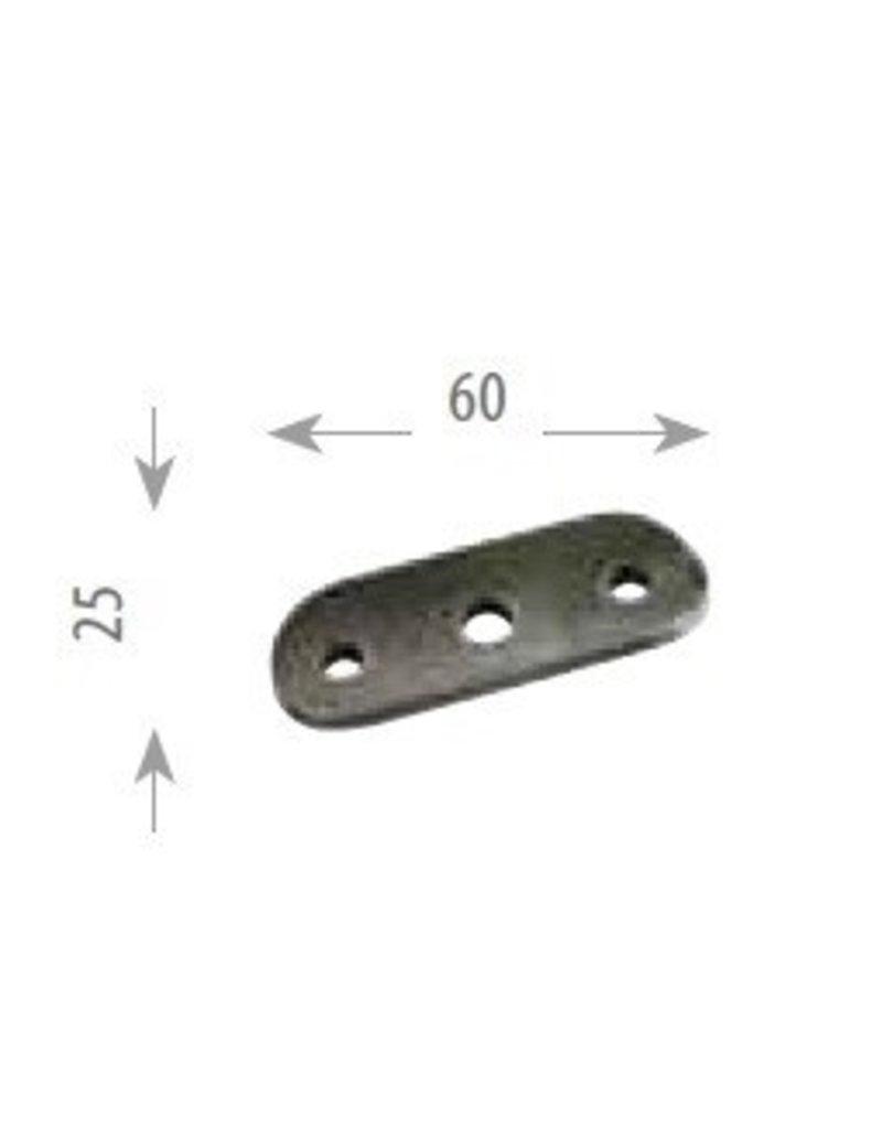 Triebenbacher montageplaat staal 60x25mm - voor buis 42,4mm of vlakke buis