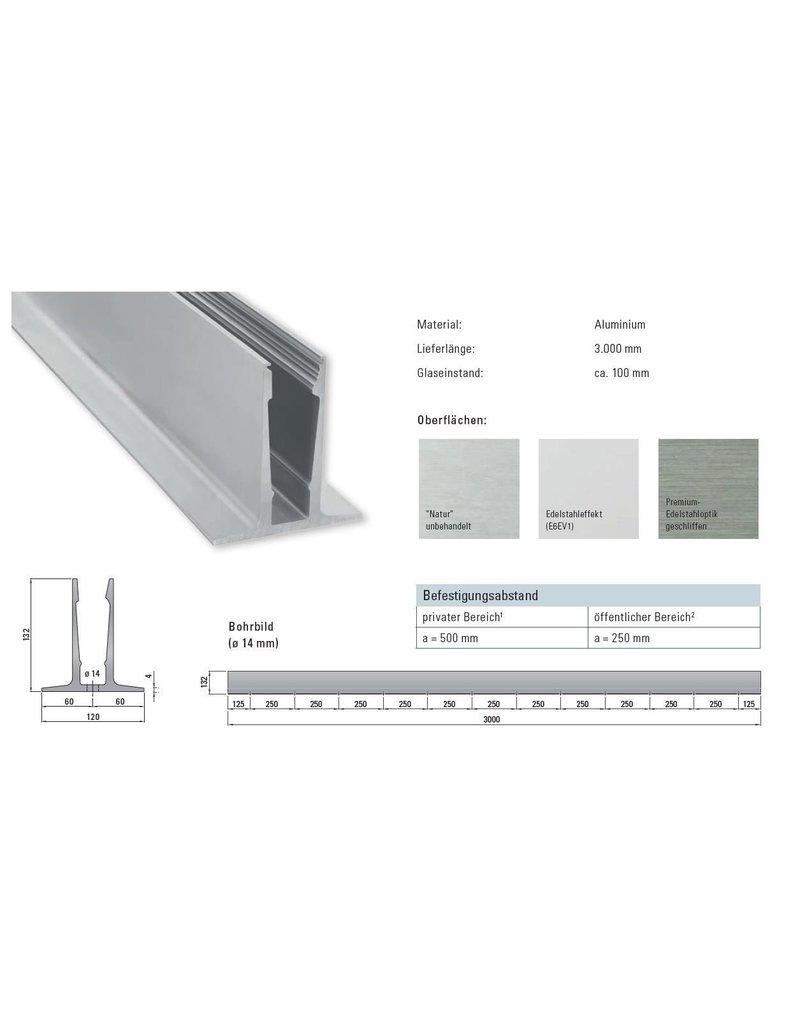 Glassline Glasbalustrade Balardo Core - 3000mm - TOP 2