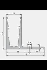 Glassline Garde-corps en verre Hybrid - 3000mm - TOP 1