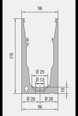Glassline Garde-corps en verre Hybrid - 3000mm - TOP 4