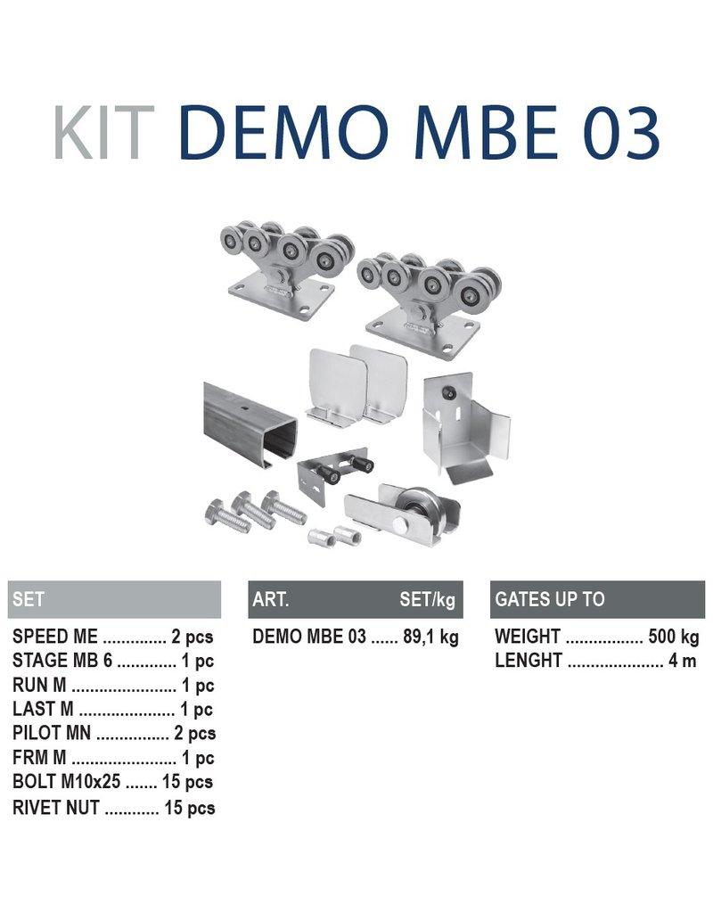 CAIS Cantilever set ME - 500kg - 4m  - met geleidingsprofielen onverzinkt