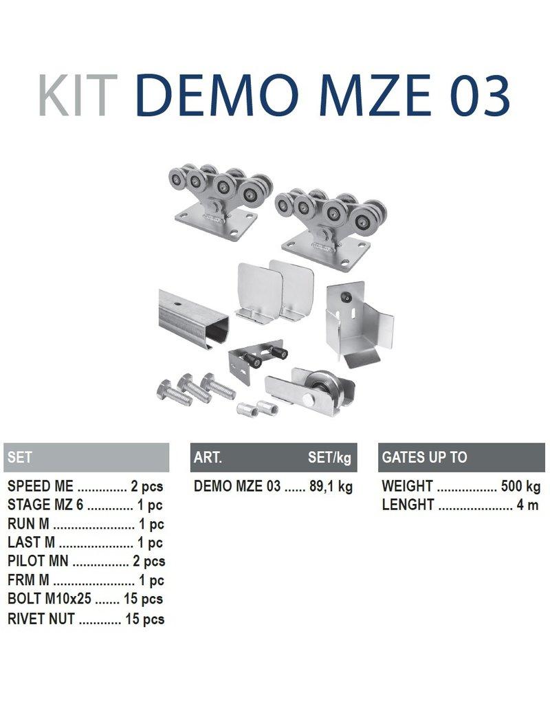 CAIS Cantilever set ME - 500kg - 4m  - avec profils de guidage galvanisé