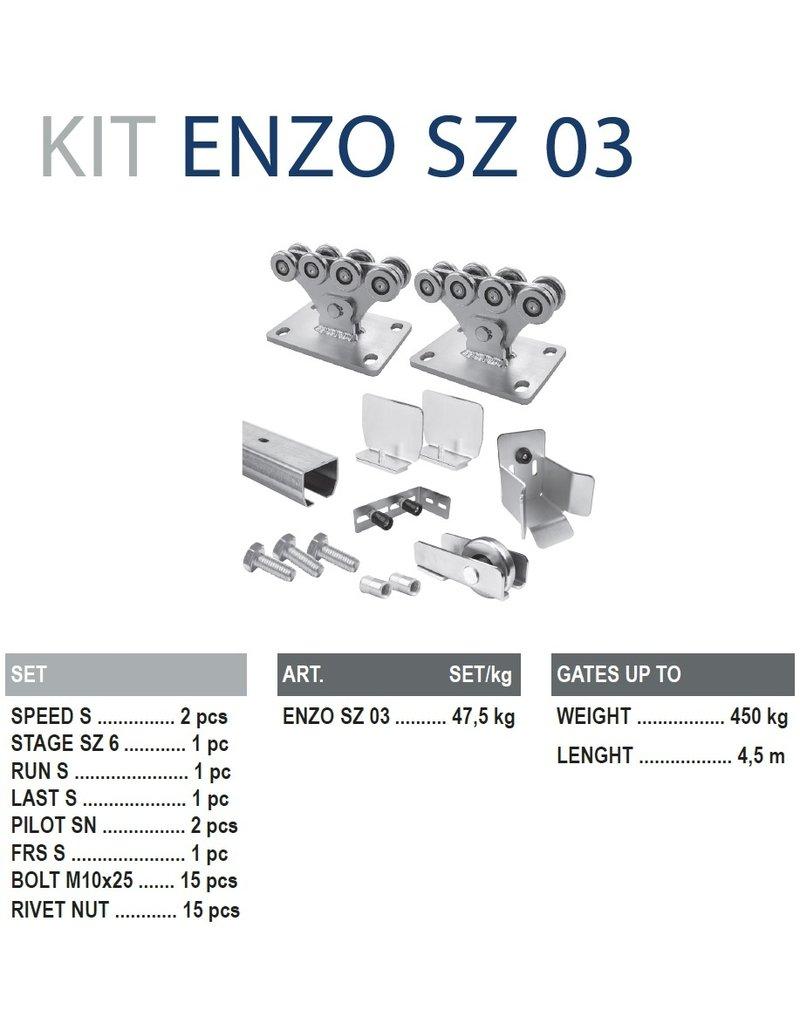 CAIS Cantilever set S - 450kg - 4.5m - met geleidingsprofielen verzinkt