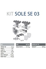 CAIS Cantilever set SE - 325kg - zonder geleidingsprofielen