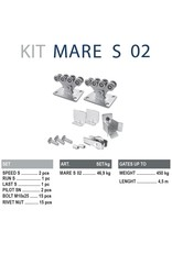 CAIS Cantilever set S - 450kg - sans profils de guidage