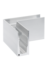 Glassline Angle 90° HYBRID garde-corps  - SIDE 1