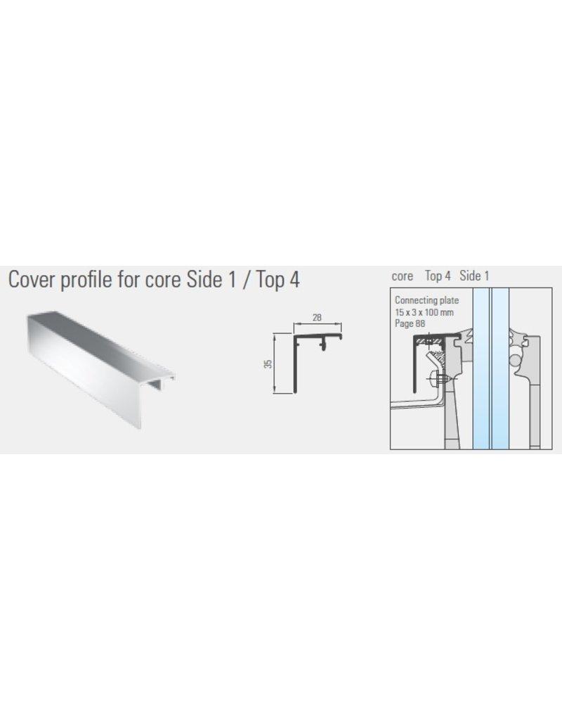 Garde-corps profil de drainage 35x28mm CORE Top 4 / Side 1