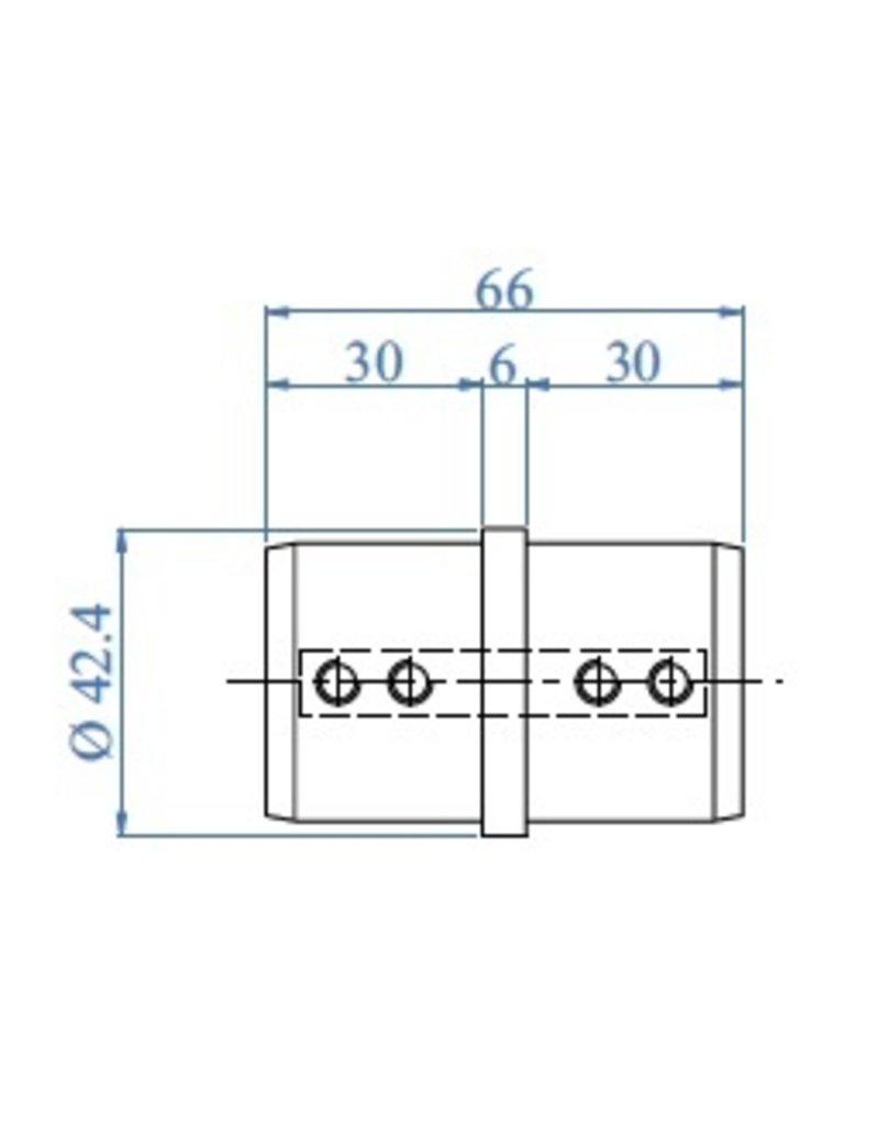 Triebenbacher Verbindingsstuk geborsteld voor U-profiel buis V2A (77800-1)