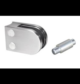 pince à verre V2A / V4A / zamac - 50x40mm pour verre 6 - 10.76mm