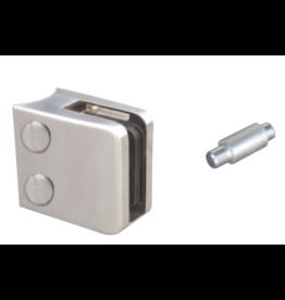pince à verre V2A / V4A / zamac - 45x45mm pour verre 8 - 10.76mm