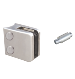 Rinox pince à verre V2A / V4A / zamac - 45x45mm pour verre 8 - 10.76mm