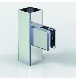 Pauli & Sohn glasklem V2A - 48x45x27mm voor glas 6 - 12.76mm