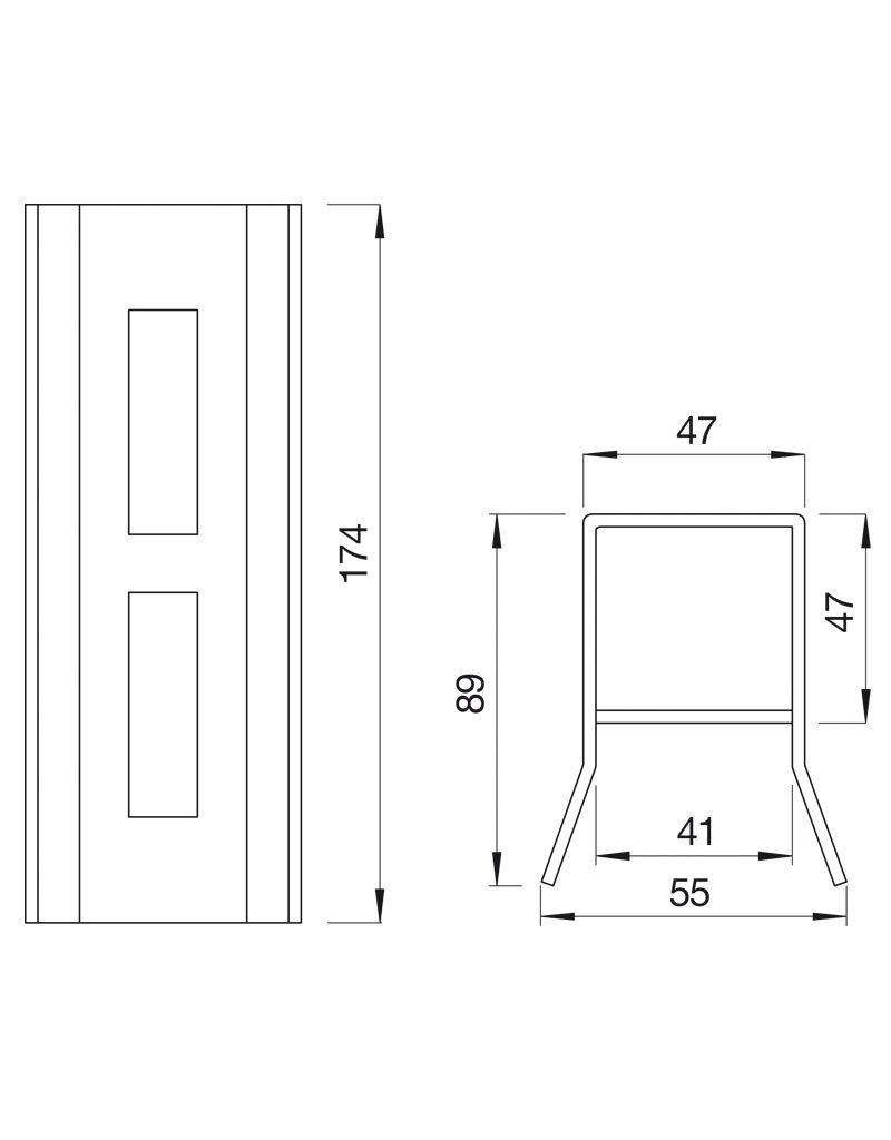 Deutsche Metall Aanslagkast VA voor slot DM 20 40 05 (B=40mm)