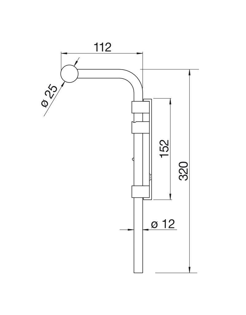 Deutsche Metall verrou de porte galvanisé à chaud montage par vissage