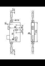 Deutsche Metall slotkast met meerpuntsvergrendeling