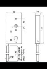Deutsche Metall serrure avec verrouillage vertical au sol