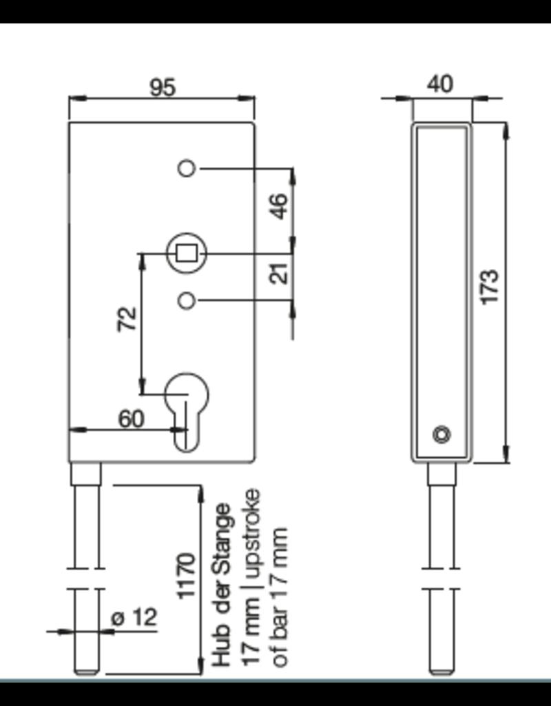 Deutsche Metall slotkast met verticaal slot
