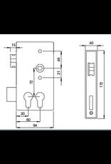 Deutsche Metall slotkast met dubbele cylinder