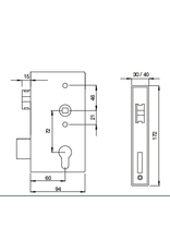 Deutsche Metall slotkast V2A anti-paniek