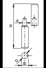 Deutsche Metall Laspaumel V2A met platte kop