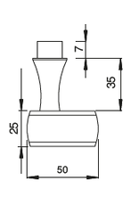Deutsche Metall poignée de porte V2A avec pignon 8x8mm