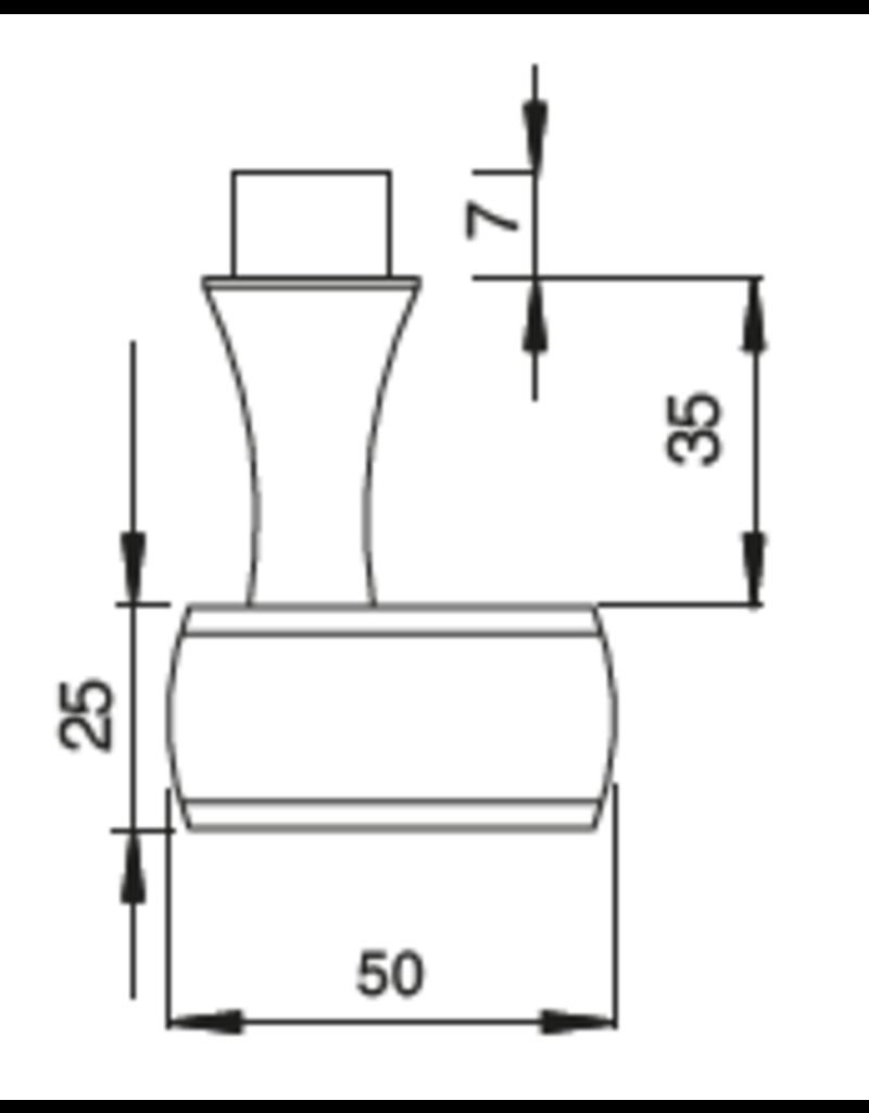 Deutsche Metall deurknop massief V2A voor stift 8x8mm
