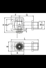 Deutsche Metall scharnier V2A met inlasmoer