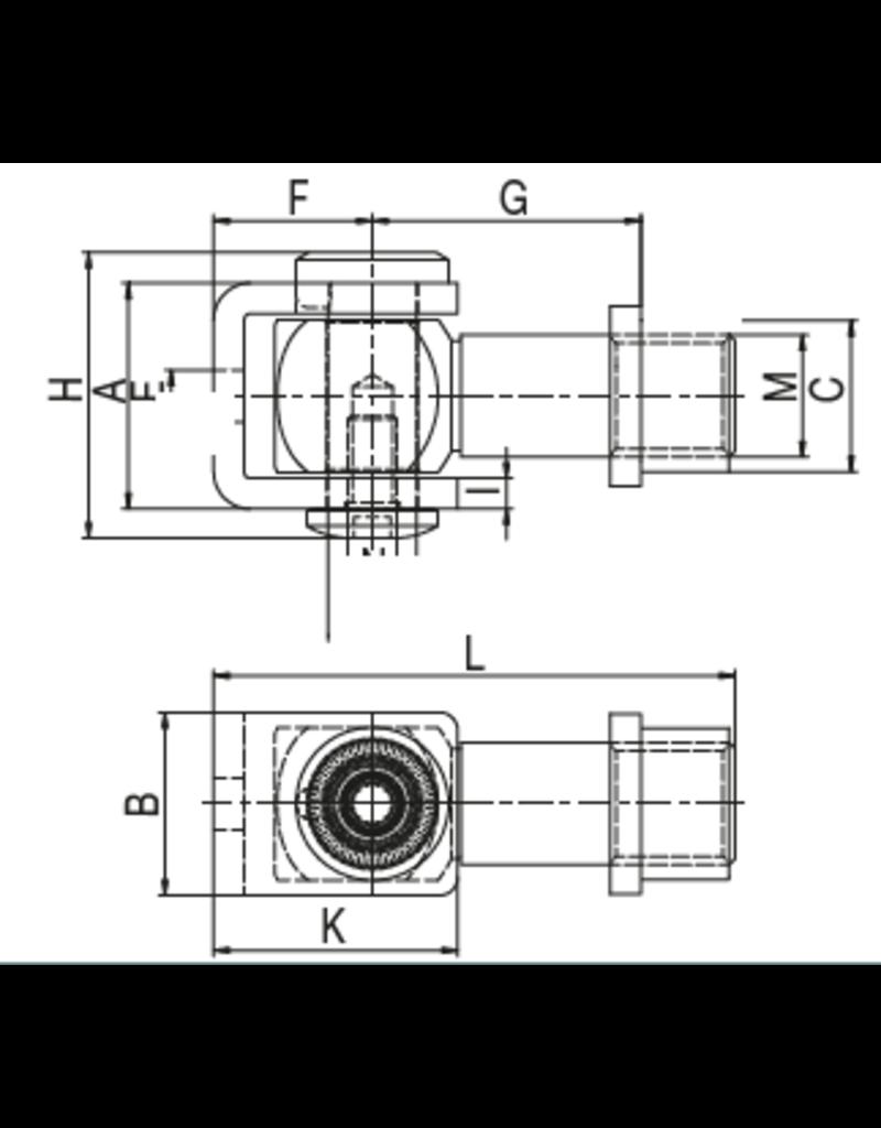 Deutsche Metall Charnière V2A pour souder l'écrou