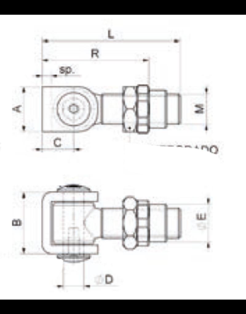 Deutsche Metall Charnière galvanisé avec écrou à souder