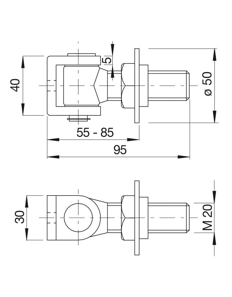 Deutsche Metall Charnière réglable