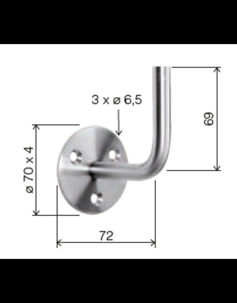 Deutsche Metall Support main courante avec trous fraisés V2A modèle de soudage