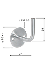 Deutsche Metall Leuningdrager V2A lasmodel
