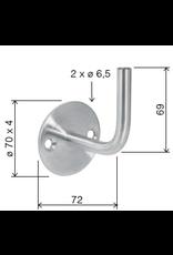 Deutsche Metall Support main courante avec 2 trous fraisés V2A modèle de soudage